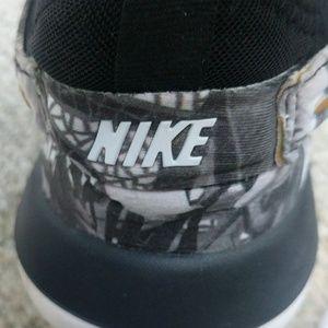 Nike Shoes - Nike Id Custom White Black & Gold Floral Sneakers